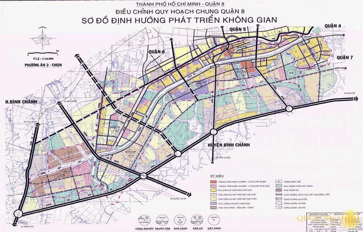 Tổng thể bản đồ quy hoạch Quận 8