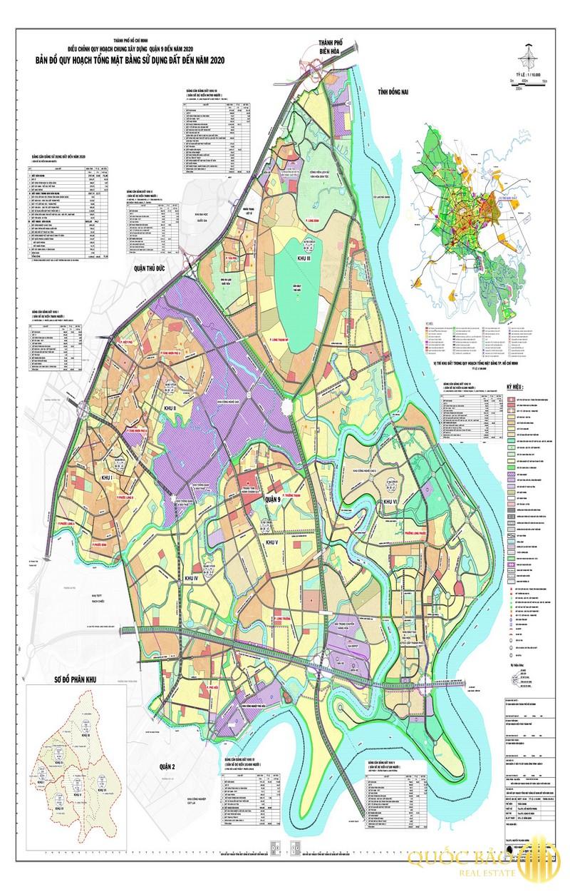 Bản đồ tổng thể quy hoạch Quận 9