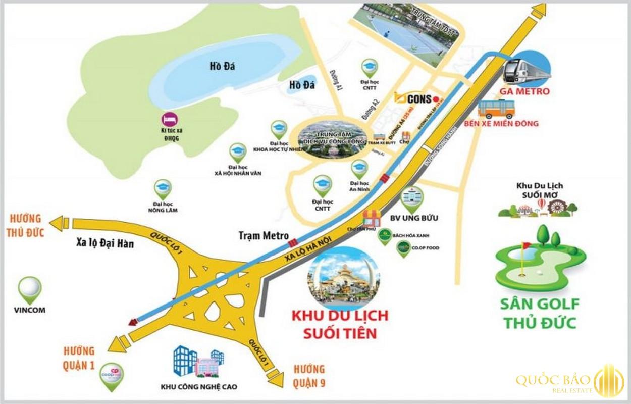 Bản đồ vị trí Bến Xe Miền Đông mới thuộc quy hoạch Quận 9