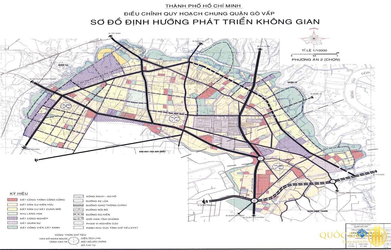 Bản đồ tổng thể quy hoạch Quận Gò Vấp