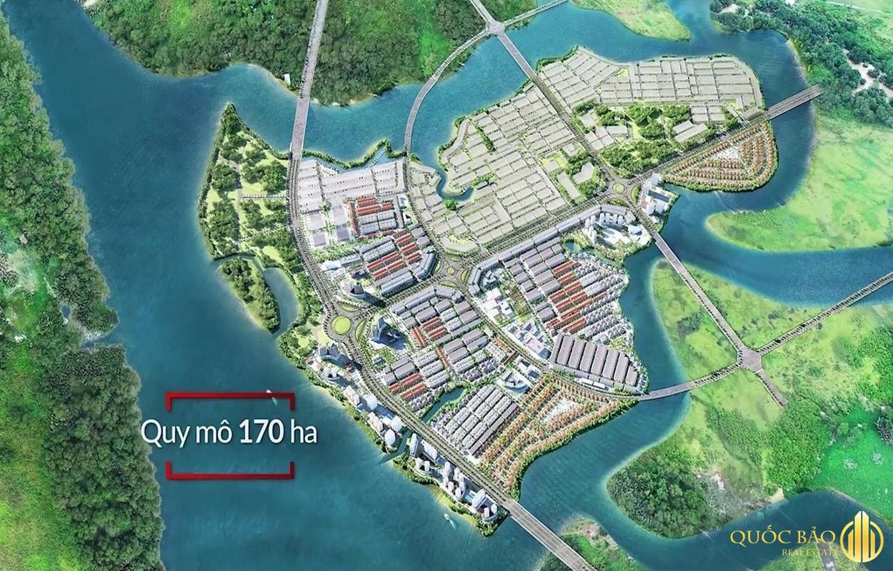 Phối cảnh tổng thể mặt bằng Spring Waterfront Nam Long Đồng Nai
