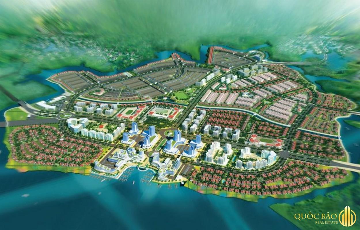 Phối cảnh trên cao Spring Waterfront Nam Long Đồng Nai