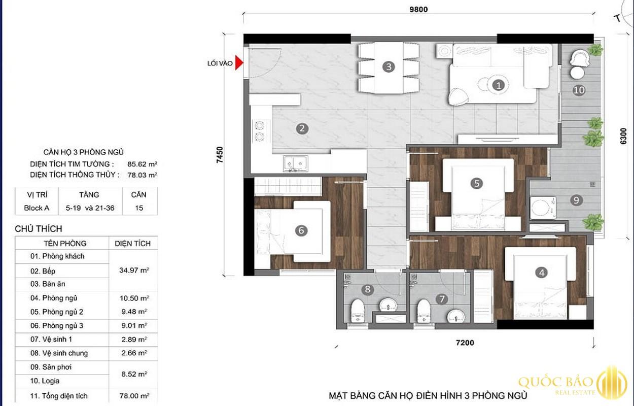 Thiết kế căn hộ Stella Võ Văn Kiệt Bình Tân