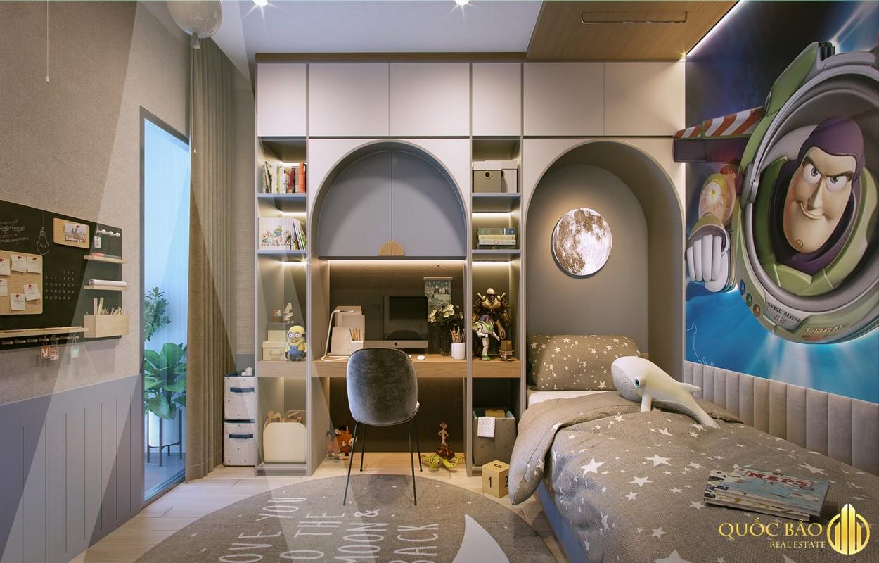 Thiết kế phòng ngủ cho trẻ nhà mẫu Astral City Bình Dương