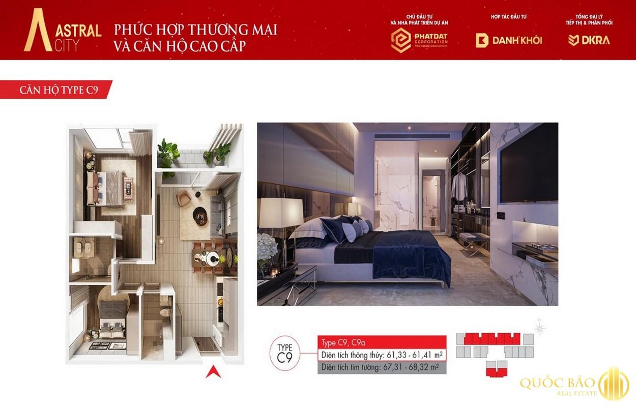 Thiết kế chi tiết căn hộ C9 Astral City Bình Dương