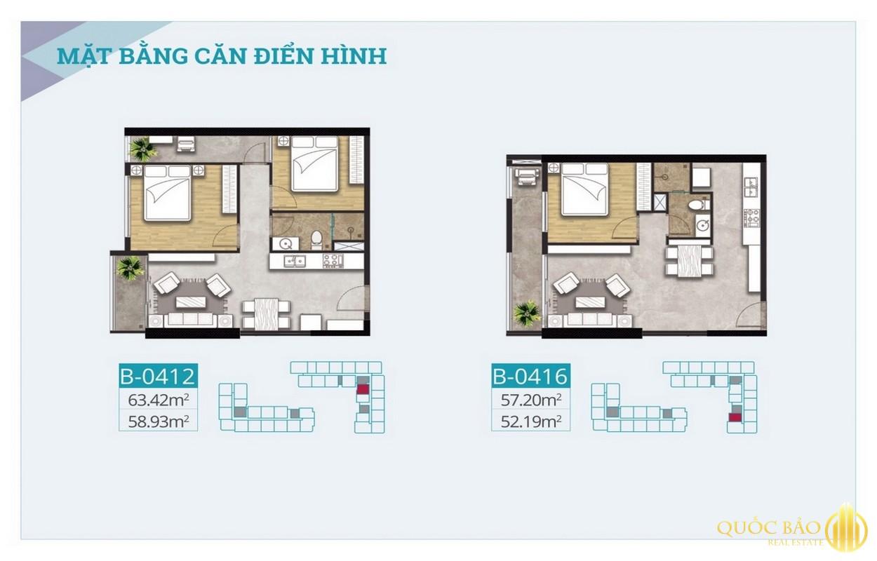 Mặt bằng căn hộ điển hình