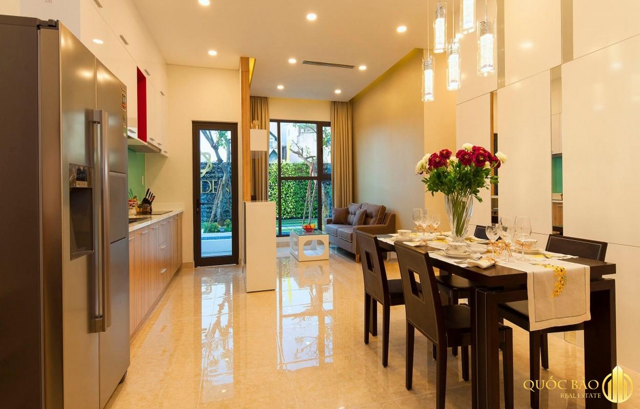 Phòng khách nhà mẫu Eco Xuân Sky Residences