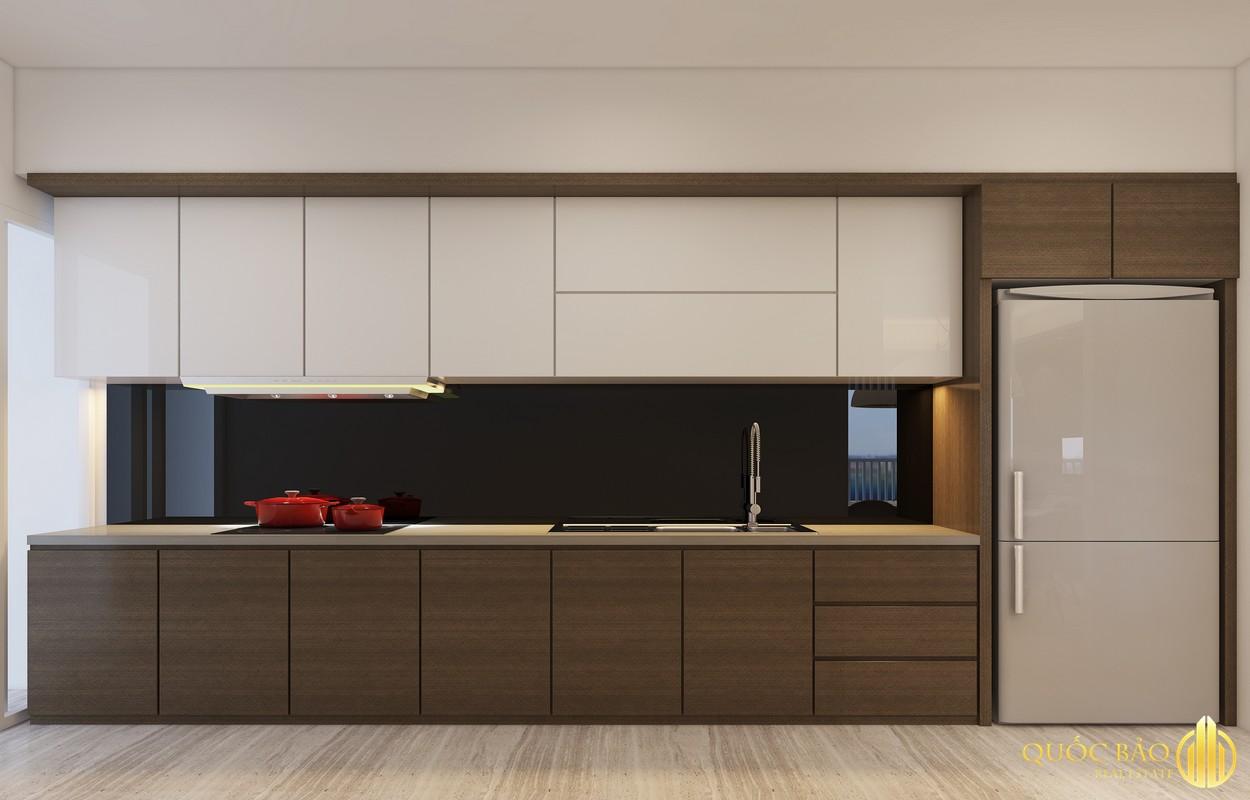 Phòng bếp nhà mẫu Him Lam Phú Đông