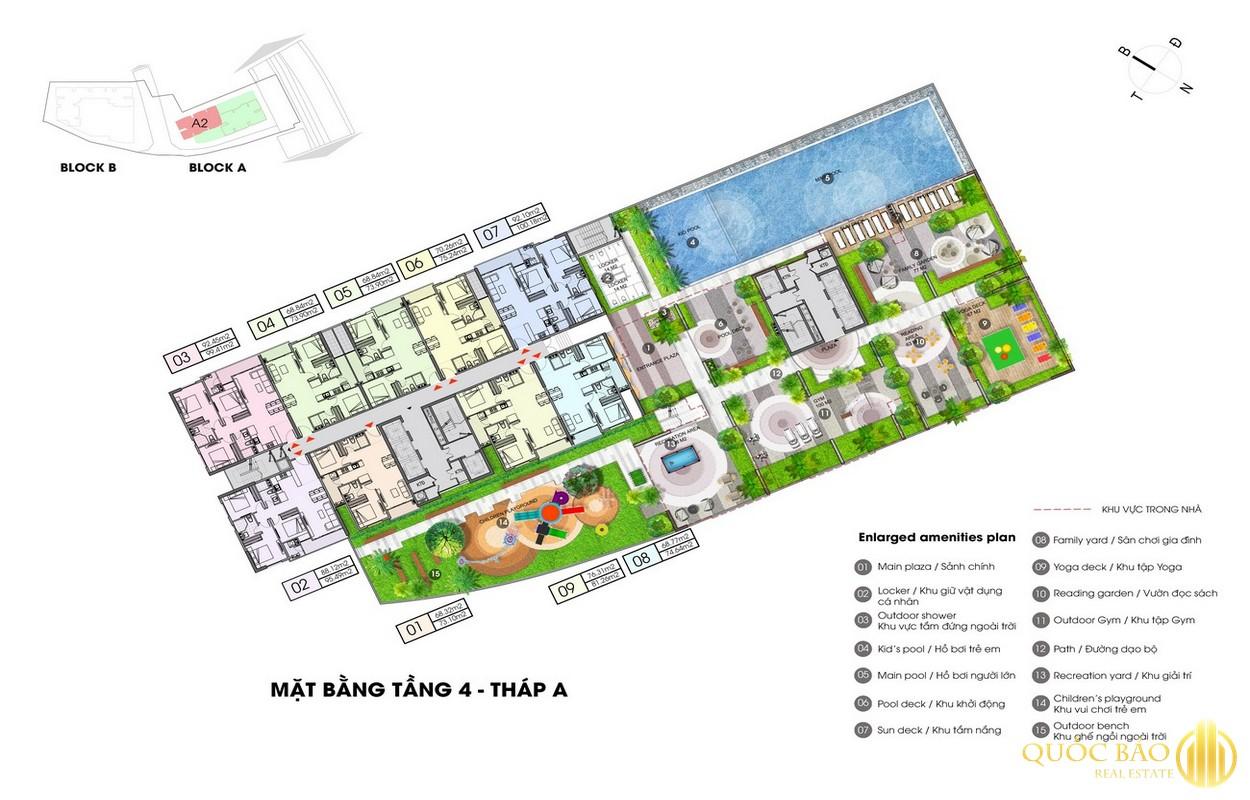 Mặt bằng tổng thể tháp A dự án Opal Boulevard Bình Dương