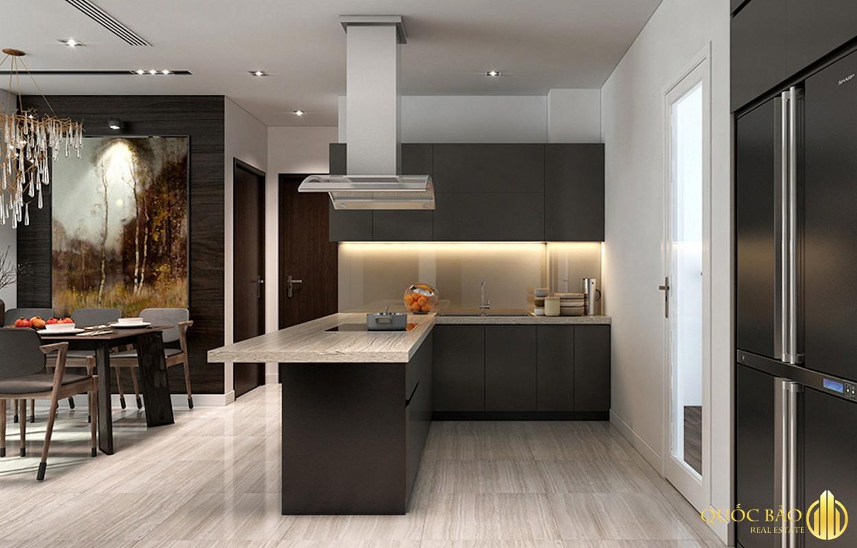 Phòng bếp nhà mẫu dự án Opal Central Park Bình Dương
