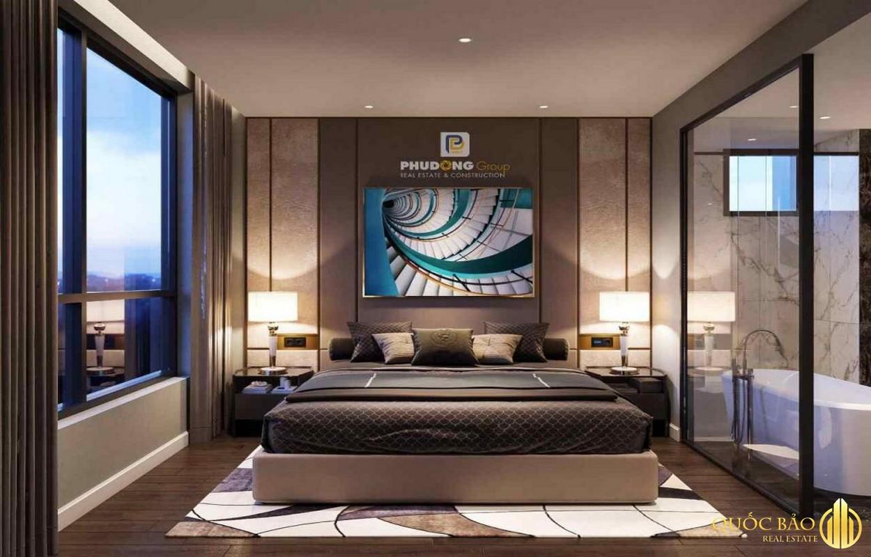 Thiết kế phòng ngủ nhà mẫu Phú Đông Sky Garden