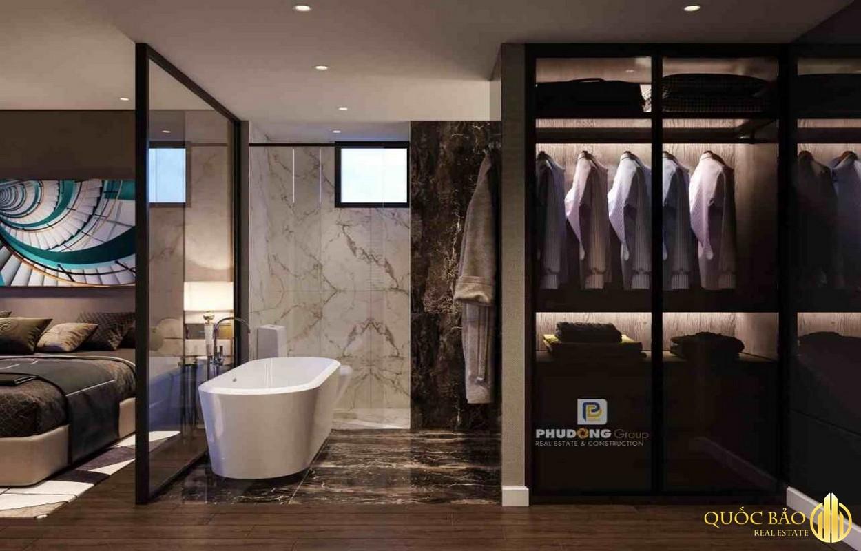 Thiết kế phòng tắm nhà mẫu Phú Đông Sky Garden