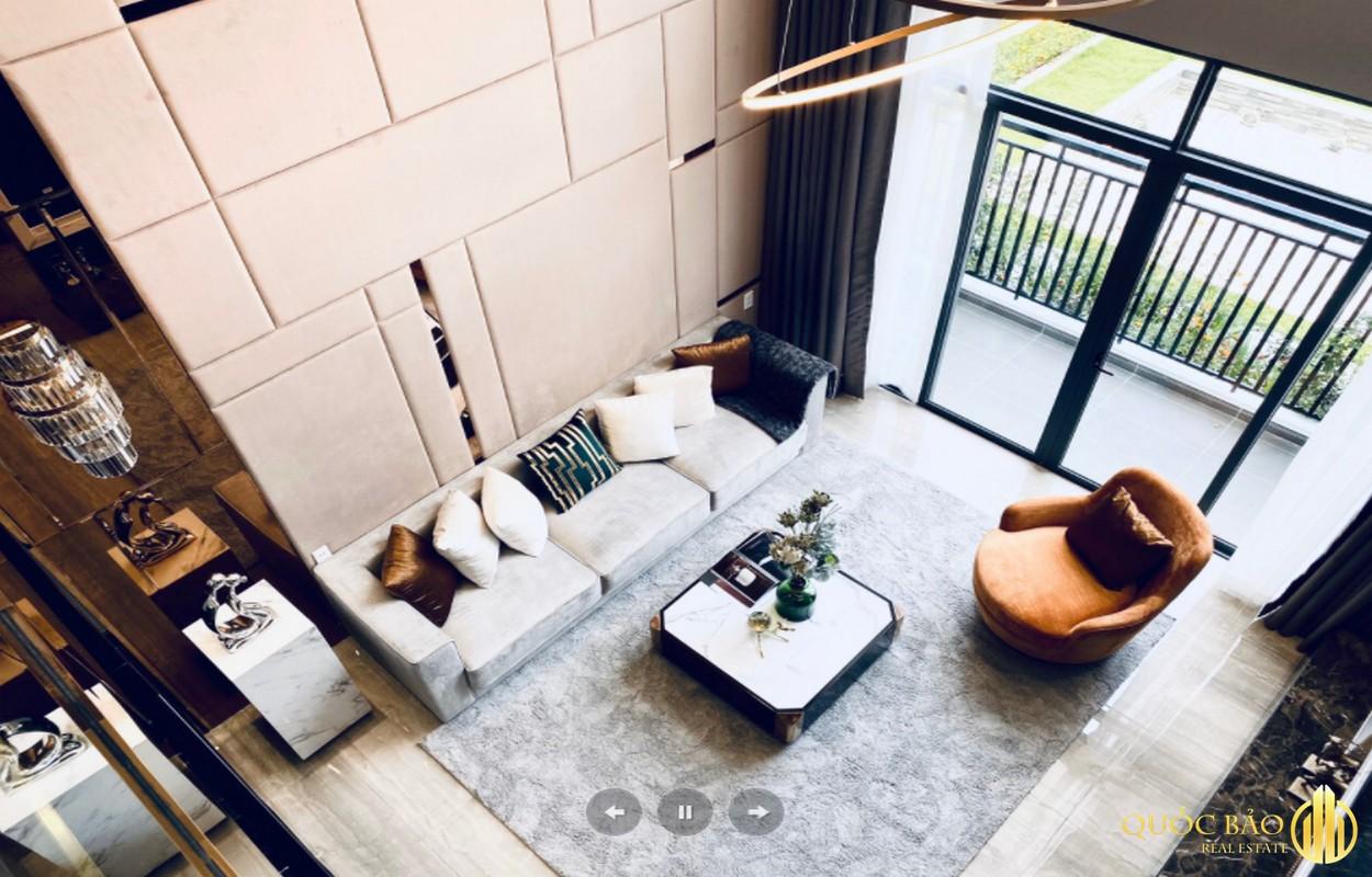 Thiết kế phòng khách nhà mẫu Phú Đông Smart City