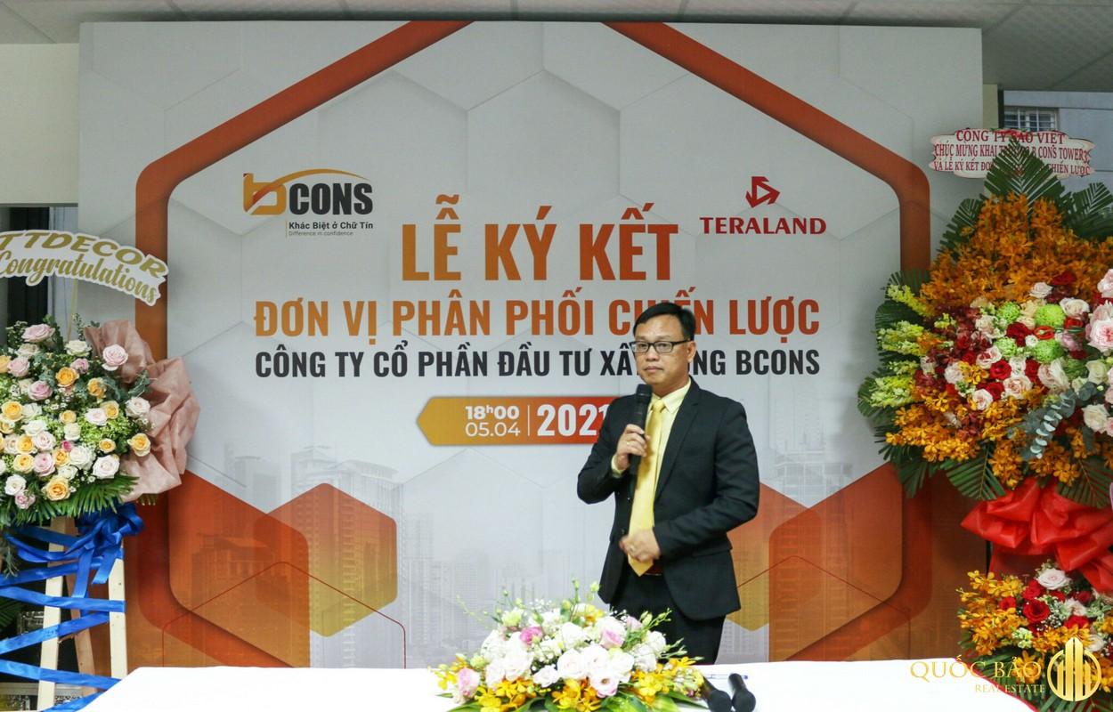Hình ảnh Ông Lê Như Thạch Chủ tịch HĐQT BCONS chia sẻ tại buổi lễ
