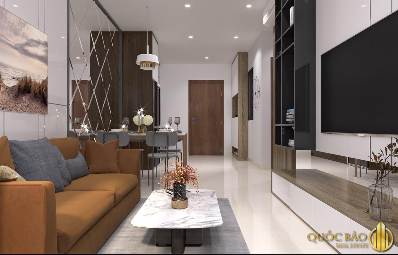 Phòng khách nhà mẫu dự án MT EastMark City