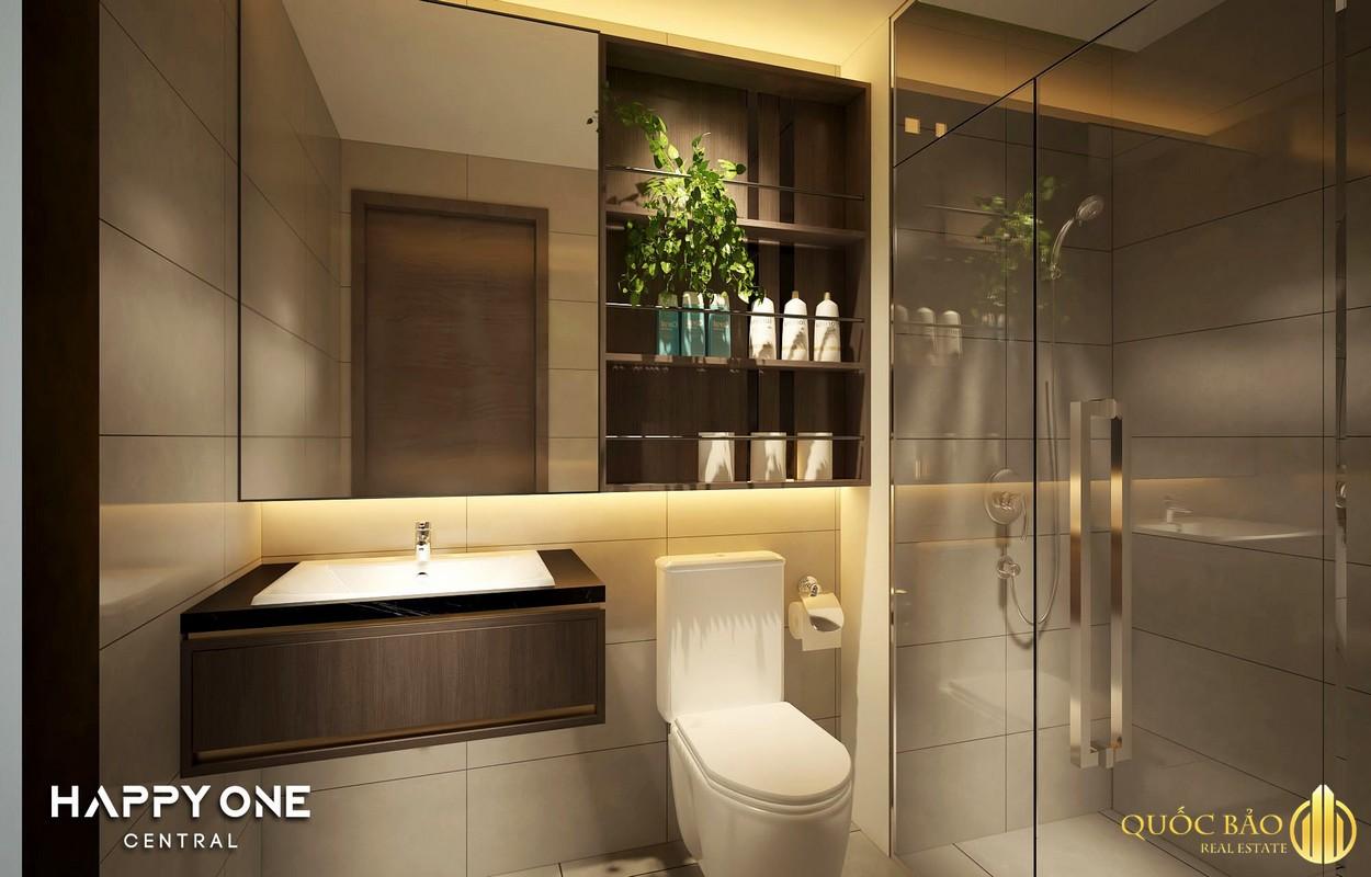 Thiết kế phòng vệ sinh nhà mẫu Happy One Central Bình Dương