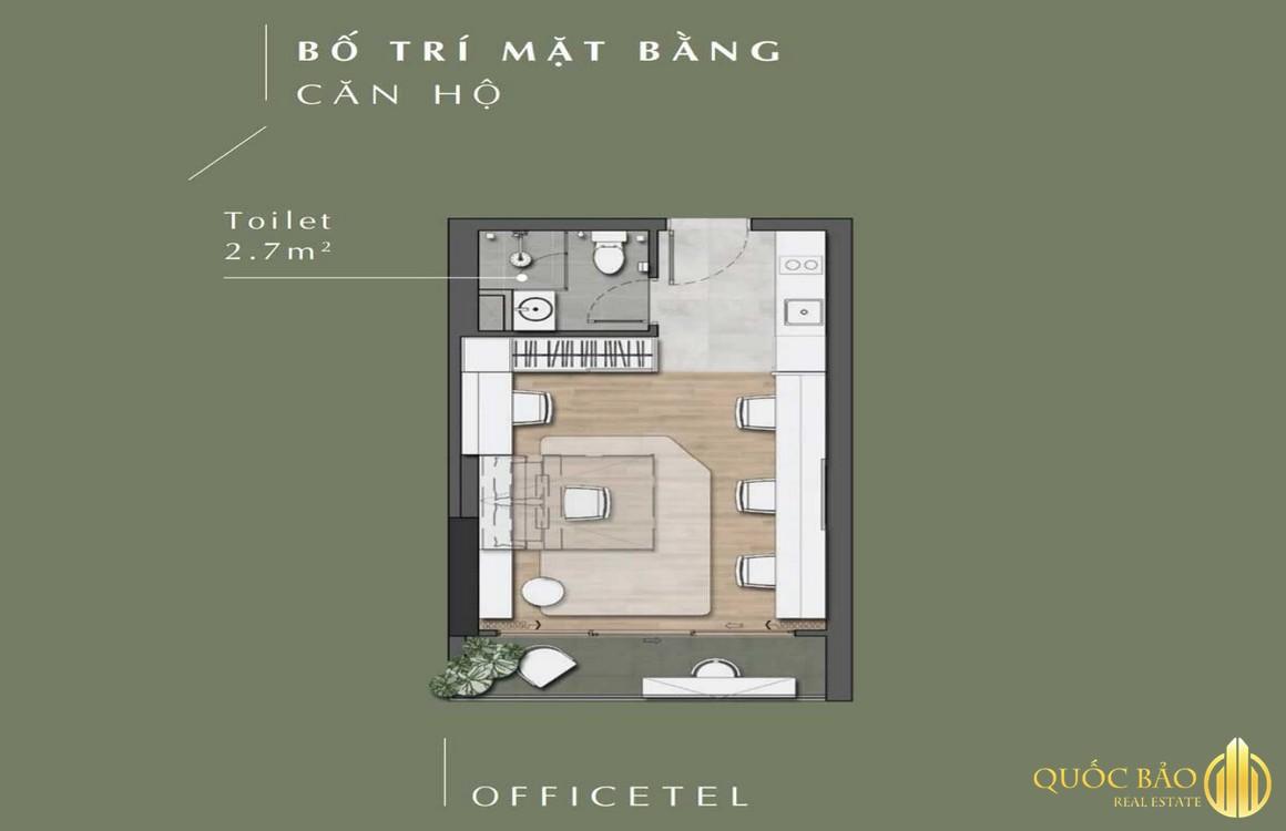 Thiết kế mặt bằng căn hộ Officetel Lavita Thuận An Bình Dương
