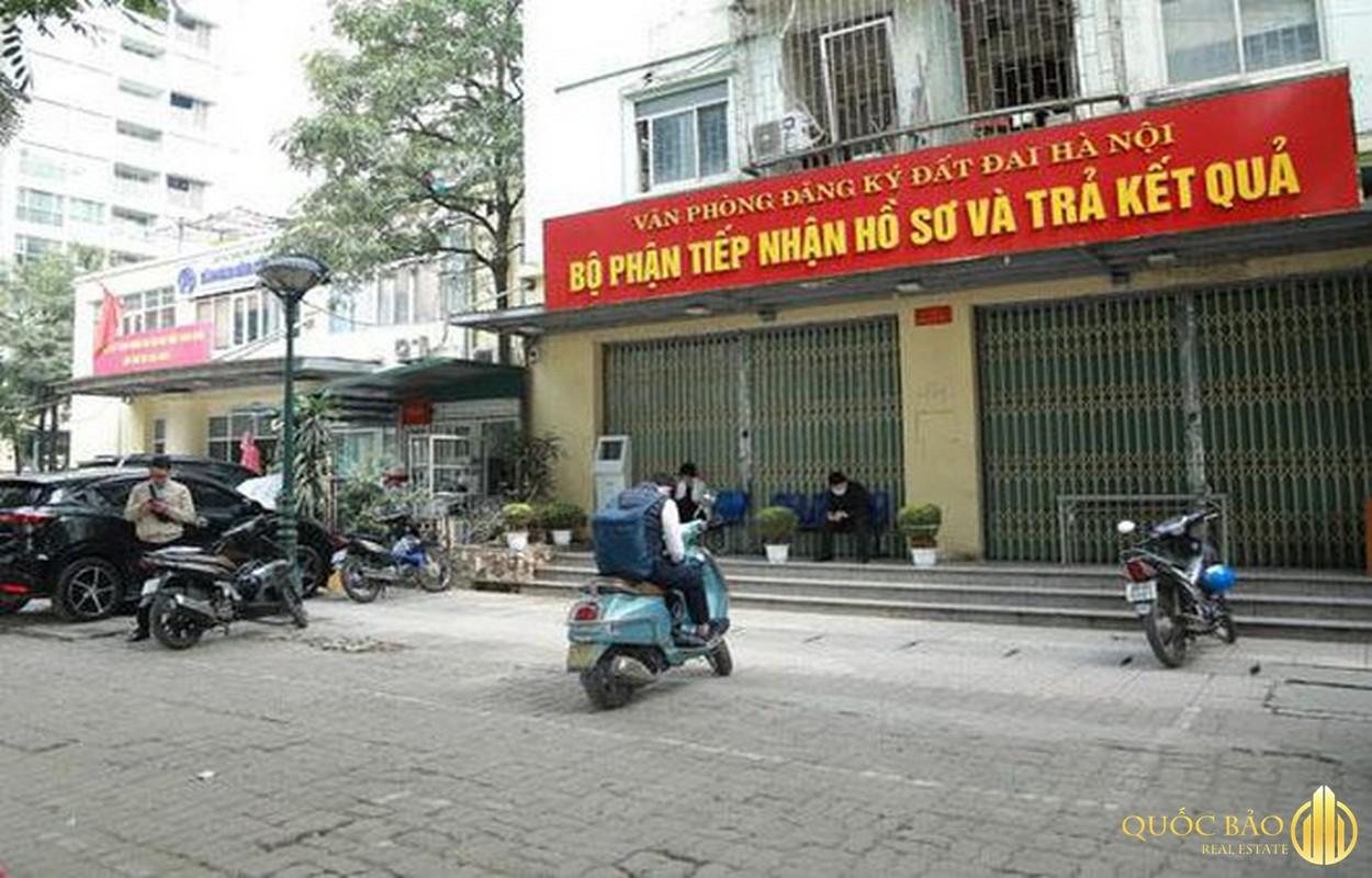 Ảnh thực tế văn phòng đăng ký đất đai Hà Nội