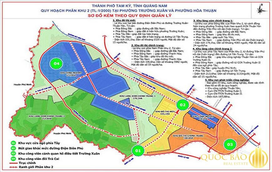 Bản đồ thành phố Tam Kỳ
