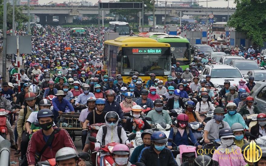 Cảnh dân cư đông đúc - Hướng dẫn cách tính mật độ dân số