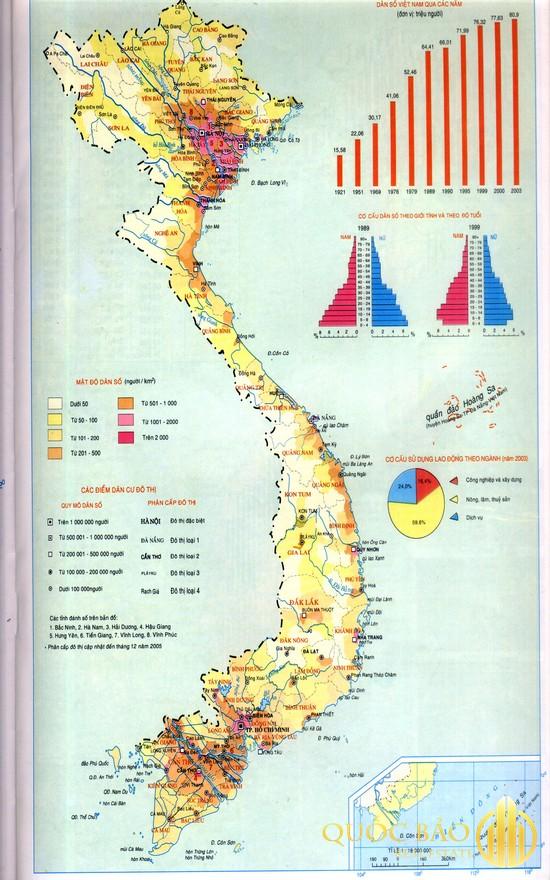 Bản đồ mật độ dân số Việt Nam - Hướng dẫn cách tính mật độ dân số