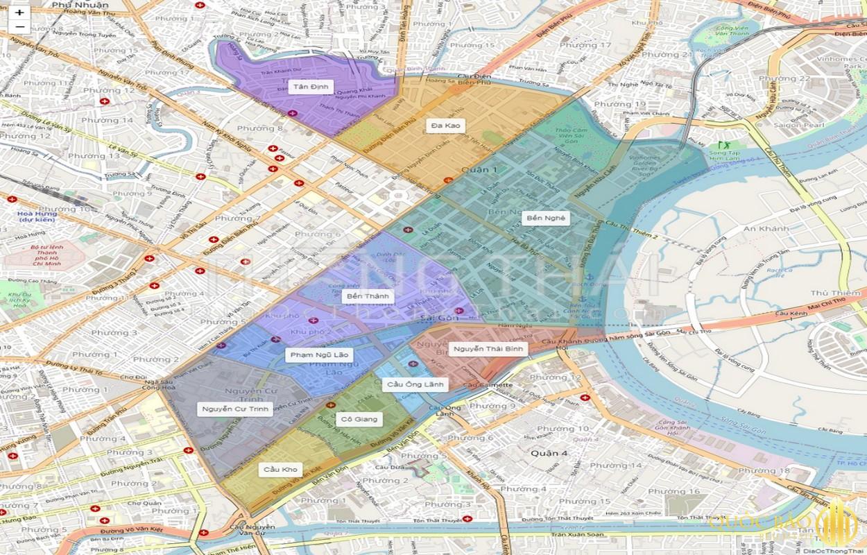 Bản đồ vị trí quận 1