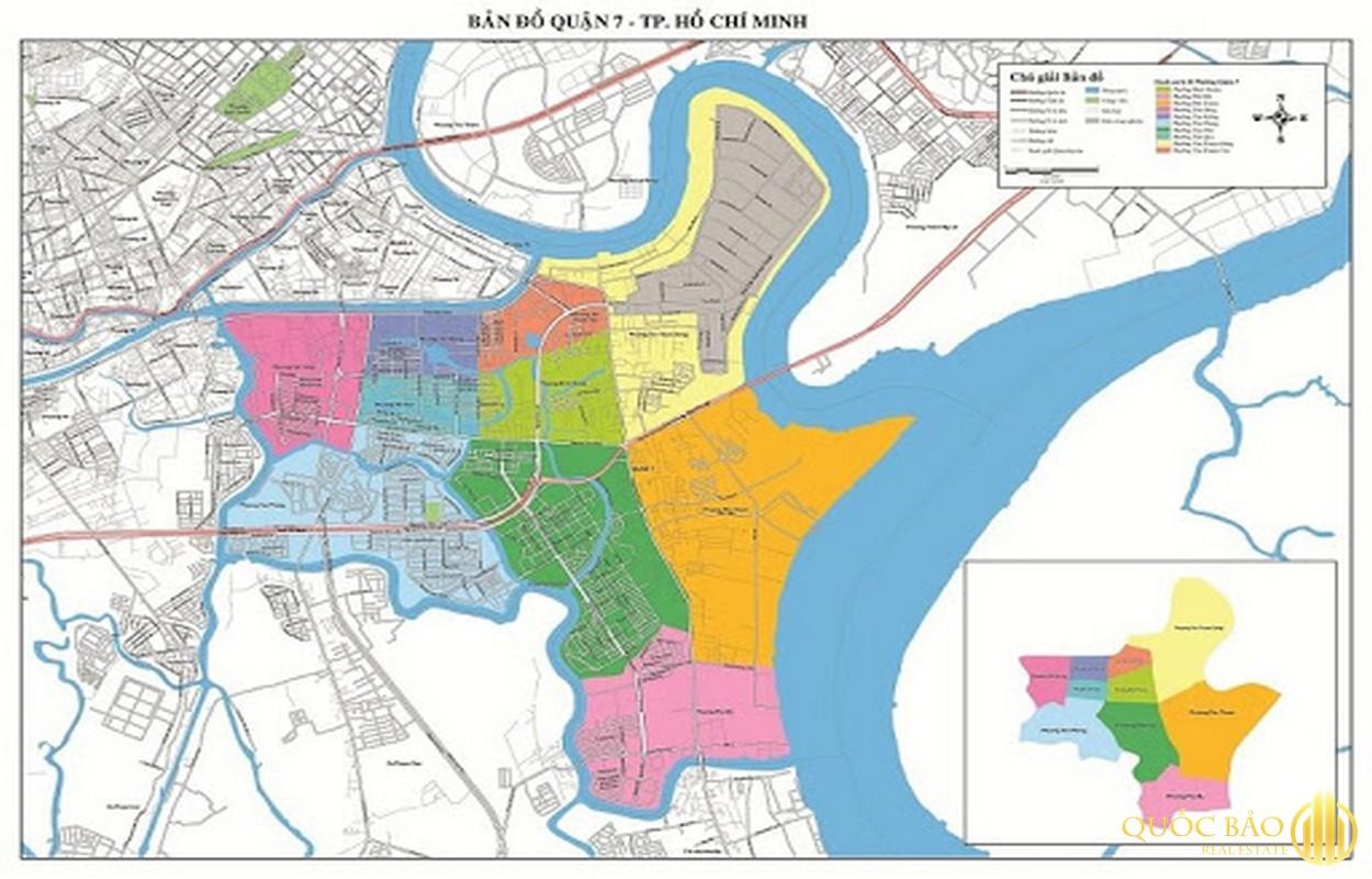 Bản đồ quận 7 - Cập nhật thị trường Căn hộ chung cư quận 7