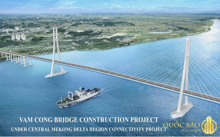 Cầu Vàm Cống là dự án có quy mô trên 5000 tỷ
