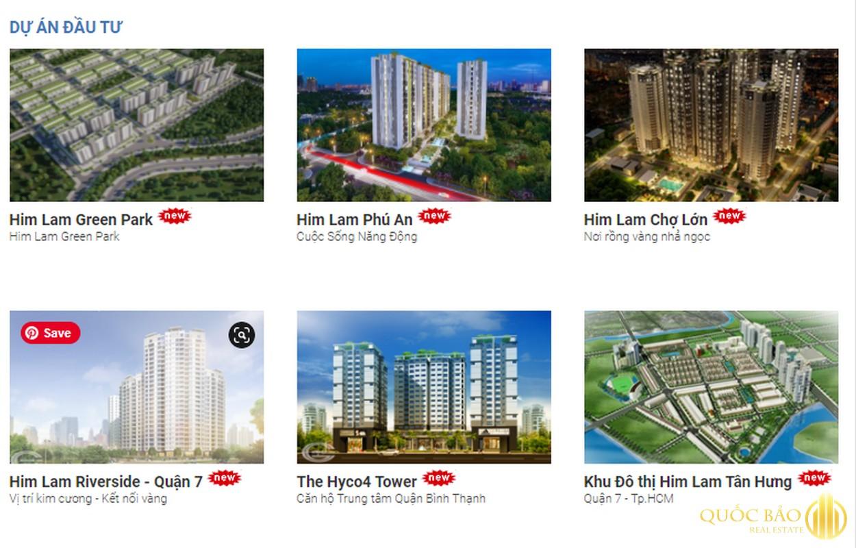 Các dự án khác của CĐT Him Lam Group