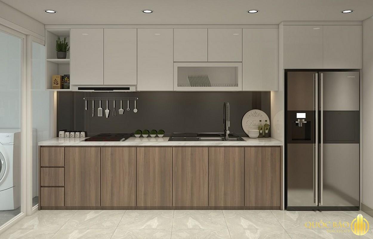 Phòng bếp nhà mẫu Him Lam City