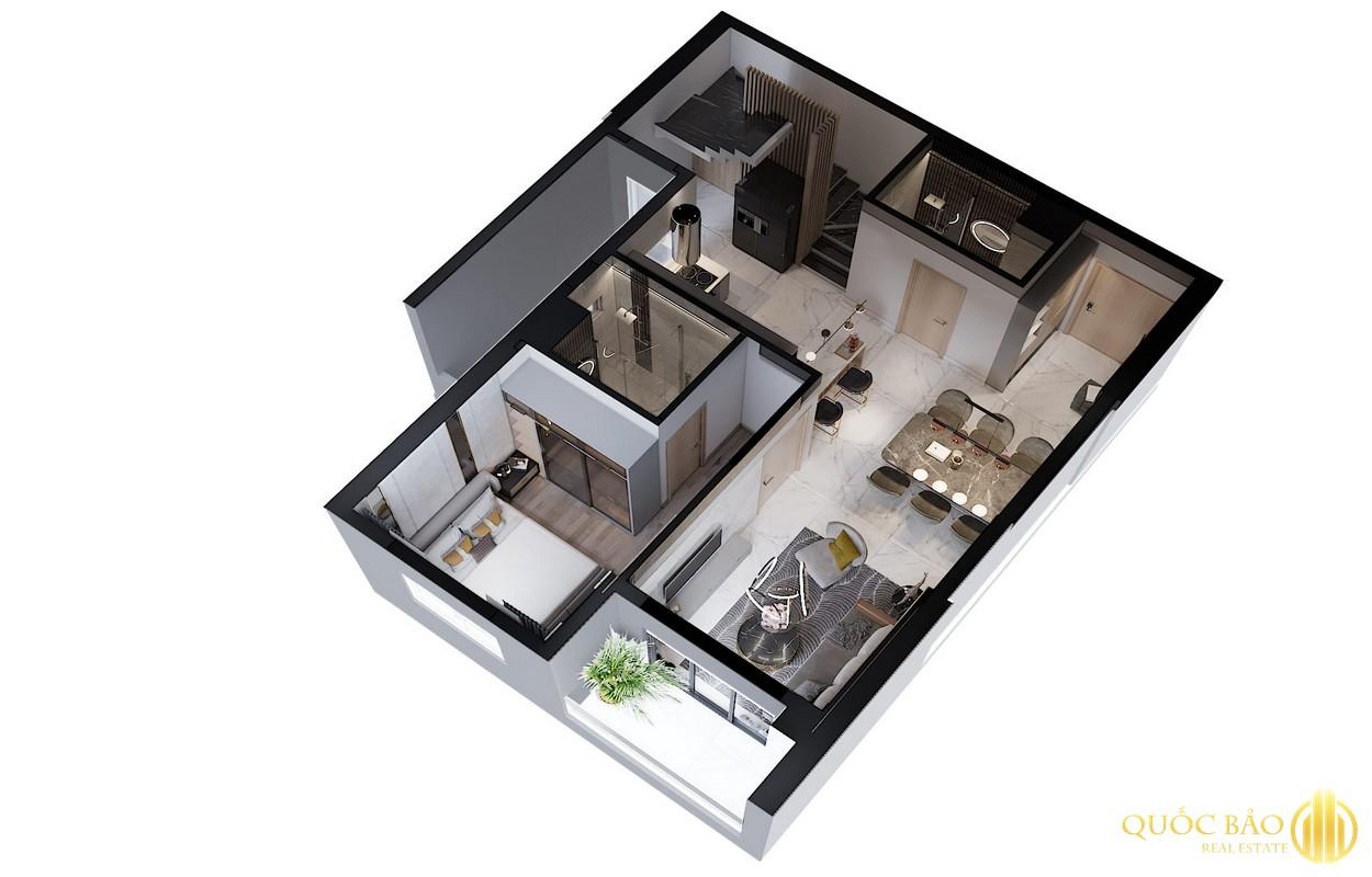 Mặt bằng tầng 1 Duplex