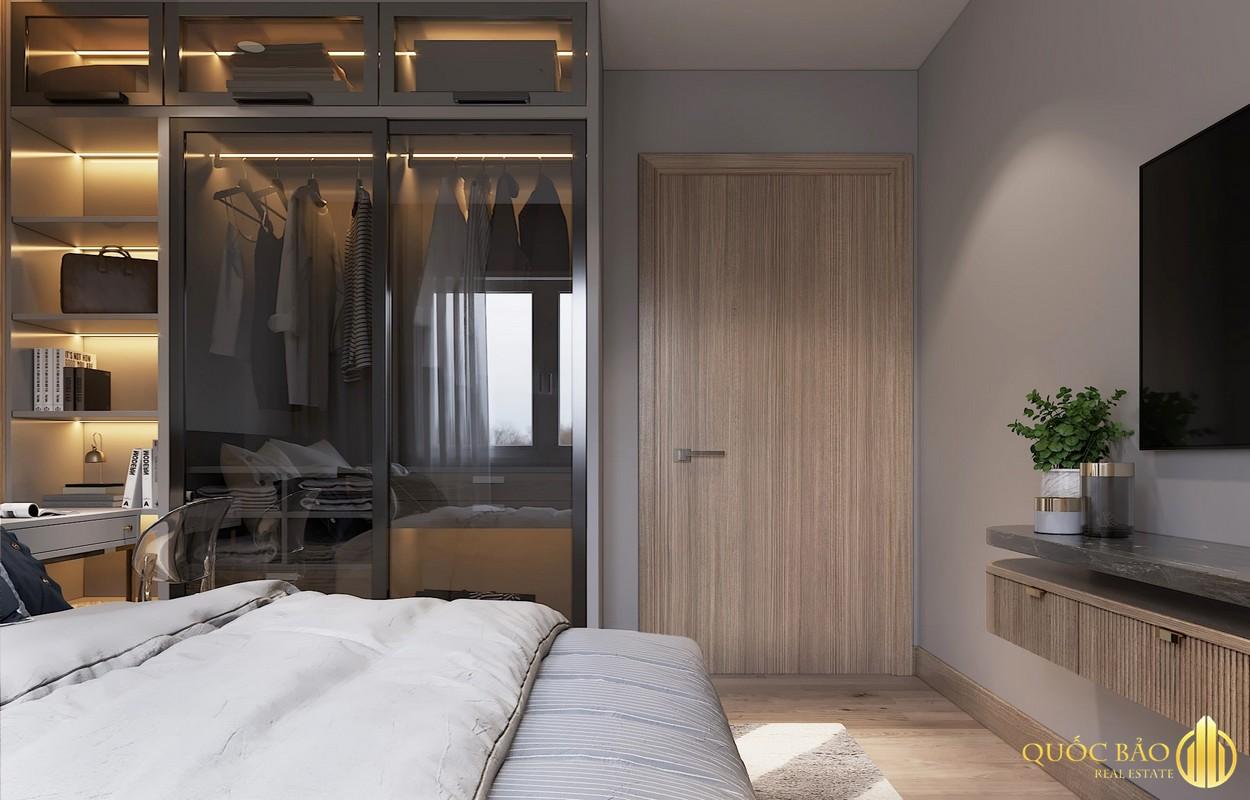 Phòng ngủ nhà mẫu Duplex dự án HT Pearl