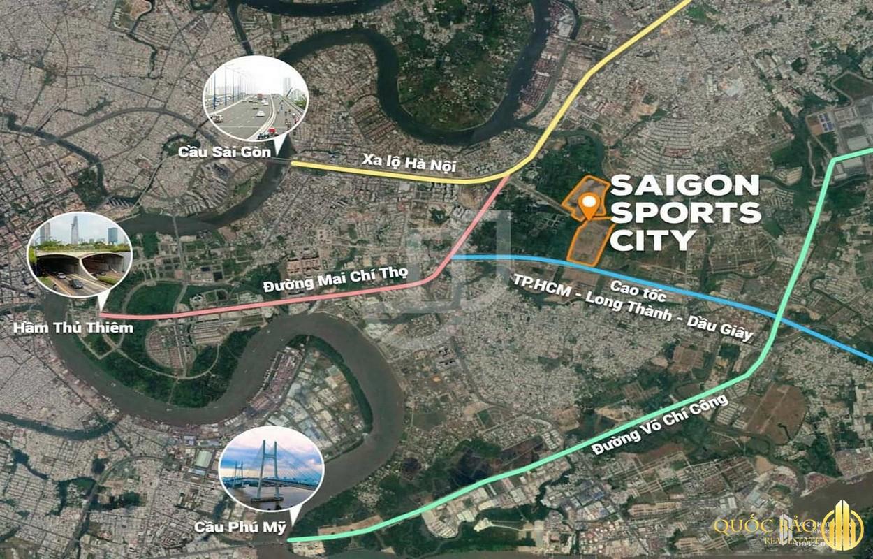 Vị trí dự án Saigon Sport City Quận 2