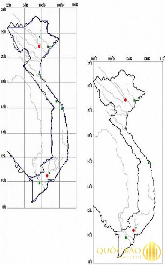 Hướng dẫn vẽ bản đồ Việt Nam - Vẽ các đường được quy định