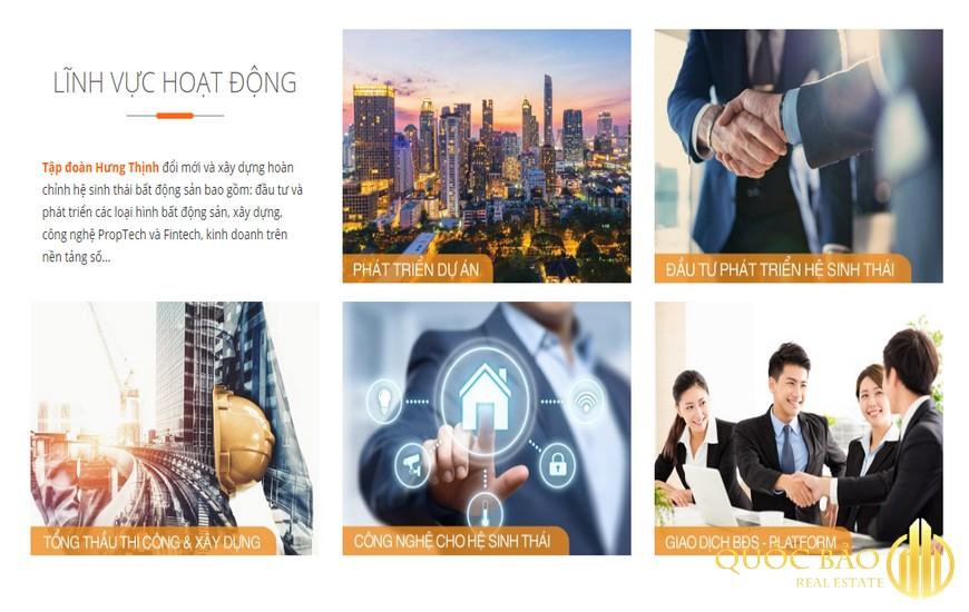 Các lĩnh vực hoạt động Công ty Cổ phần đầu tư kinh doanh địa ốc Hưng Thịnh