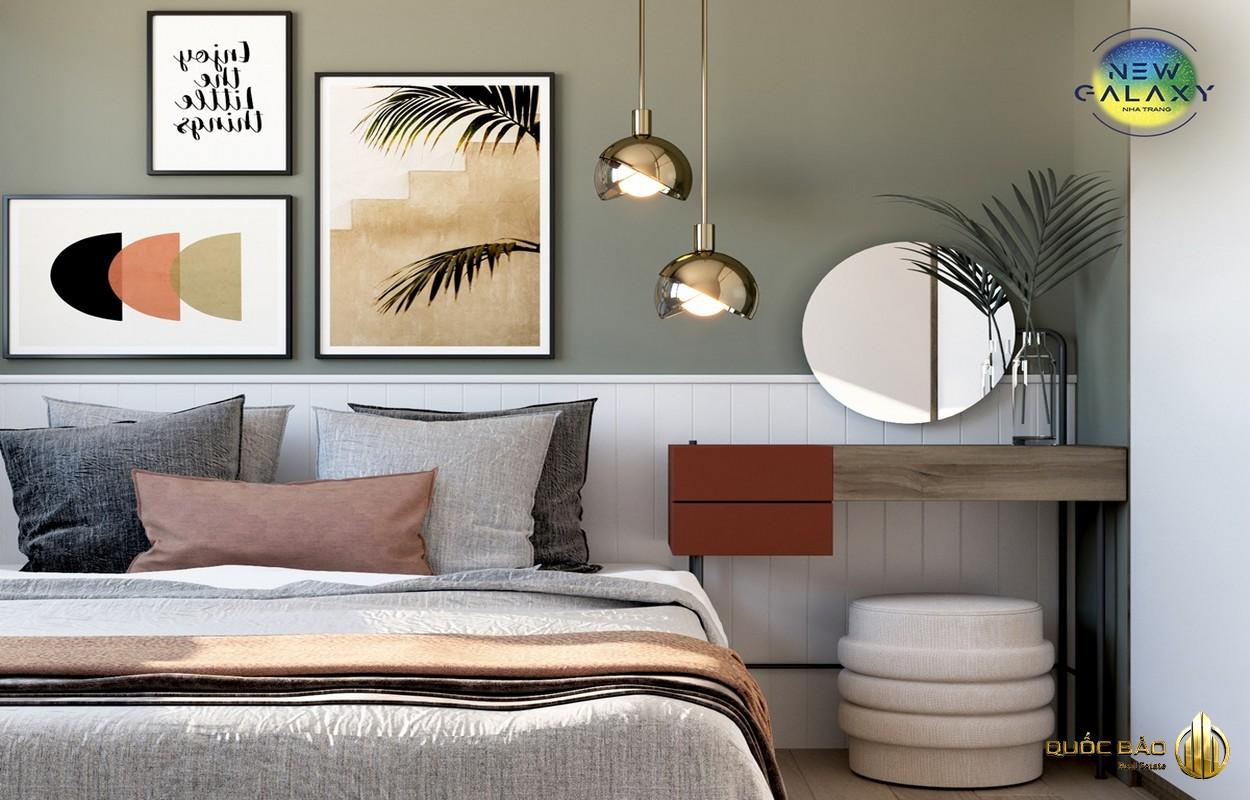 Ảnh thực tế phòng ngủ nhà mẫu New Galaxy Nha Trang