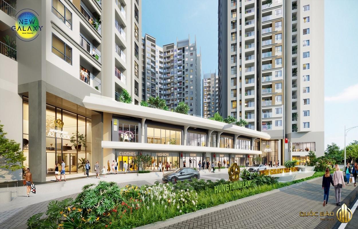 Khối đế New Galaxy Nha Trang là trung tâm thương mại sang trọng